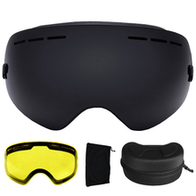 UV400 Ski Goggles Anti-fog Ski Glasses Double Lens Snow Skiing Snowboard Goggles Ski Eyewear With Extra Lens and Box