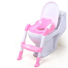 Portable Kids Infant Toilet Folding Potty Chair Training Baby Potty Seat With Ladder Children Toilet Seat @ZJF