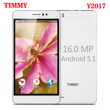 TIMMY Y2017 Mobile Phone 5.5 inch screen MTK6580 Quad Core 16MP camera Telephone Android 5.1 Dual Sim Cell Phone GSM/WCDMA