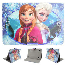 "Cartton Congelados La Reine  Elsa Anna Universal PU Leather Case Cover for 10.1"" Toshiba Encore 2 10 WT10-A32 Windows 8.1 Tablet"