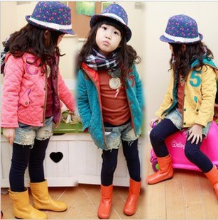 Free shipping New cotton-padded clothes fashion colours of the girls love cotton quilted jacket in winterОдежда и ак�е��уары<br><br><br>Aliexpress