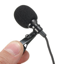 New Black Metal 3.5mm Jack Microphone Lavalier Tie Clip Microphones Microfono Mini Mic For Speaking Speech Lectures 2.4m Cable(China)
