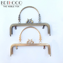 BDTHOOO 5pcs 20cm Metal Clasps for Purses Frame Embossed Rabbit Head Handle for Clutch Handbag Square Clasp Lock Bag Accessories(China)