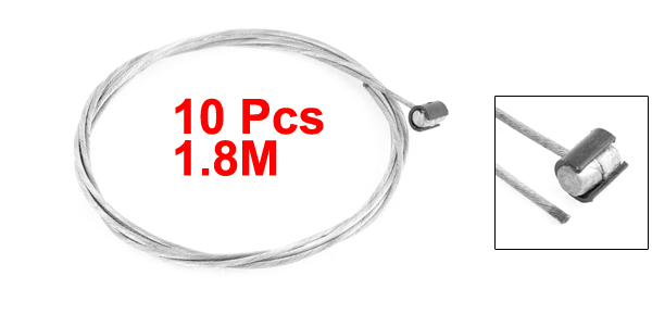 10 Pcs 2M Length 1.55mm Dia Steel Flexible Motorcycle Throttle Clutch Cable Wire