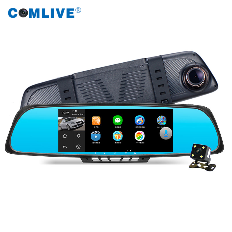 6.86 mirror android car dvr camera gps navigator rearview mirror car recorder videoregistrator with digital video and recorder<br><br>Aliexpress