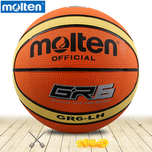 original molten basketball ball GR6-LH Molten rubber Material Official Size6 Free With Net Bag+ Needle use for Teenager /woman(China)