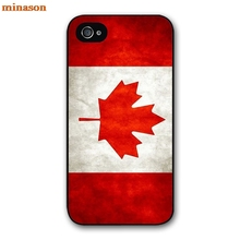 minason Capa Canada FLAG Cover case for iphone 4 4s 5 5s 5c 6 6s 7 8 plus samsung galaxy S5 S6 Note 2 3 4 F6559(China)