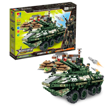 Eaducational building blocks 1154pcs Armored vehicles model diy bricks WW2 army military action figures boy gift toys