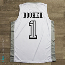SYNSLOVEN design Men Basketball Jersey top Uniforms PHONEIX suns no.1 Devin Booker Sports clothing mesh Breathable plus size(China)