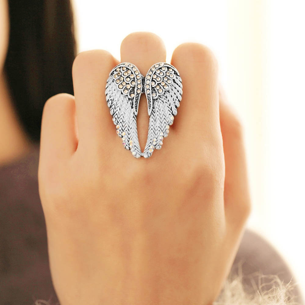 Gorgeous Angel Wings Adjustable Ring