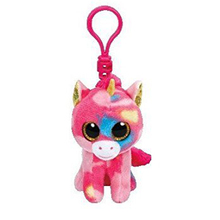 "Ty Beanie Boos Fantasia Multicolor Unicorn Clip 3"" Keychain Plush Stuffed Animal Collectible Doll Toy"