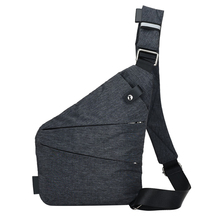 Fashion Linen canvas Chest Bag Men Simple Single Shoulder Bags  for Men Crossbody bags Male Messenger Bag Black