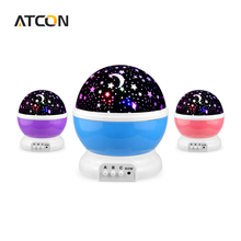 Dream Rotating Projection lamp Romantic LED Night light Sky Moon Star Master Projector USB 5V Decor Kids Baby Sleep lighting