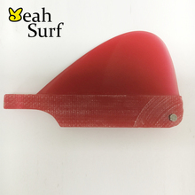 SUP Surf Paddling Center Fin Fibreglass Red Fins Quilhas