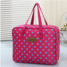 2016 New High Quality women travel bag Dot Large Capacity Travel Bag Waterproof Durable Bags 42*31*12cm 5.28-62