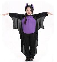 Kids Baby Cosplay Cute Bat Costume Party Carnival Halloween Costumes For Girls Boys Black Onesies Connect Wings Batman Clothes