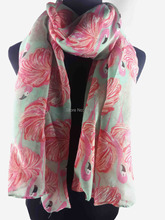 Flamingo Print Women's Scarf Wrap Shawl Hijab Women's Accessories Gift Thanksgiving Day, Free Shipping(China)