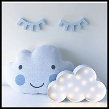Ins LED Clouds ice cream wrought iron Craft Decorate In Children's Room for Baby the best gift(China)