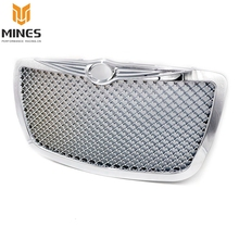 Racing Car front Grills for 2004 2005-2010 Chrysler 300 300C Limited Touring Chrome Hood Grill Mesh Grille  YC101088