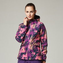 Camouflage Soft Shell Woman Winter Ski Jackets Outdoor Waterproof Skiing And Skateboard Clothing For Women 2017 New Hot Sale