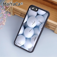 MaiYaCa golf ball Printed Print Soft TPU Mobile Phone Case Funda For iPhone 7 Plus Back Cover Skin Shell(China)