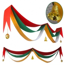 Christmas Wave Flag Colour Ribbon Winter Banner New Year Christmas Market Church Classic Indoor Outdoor Home Decoration Supplies