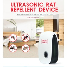 Ultrasonic Mosquito Repeller for Home Garden Anti Mosquito Insect Repeller Rat Mouse Cockroach Pest Reject Repeller(China)