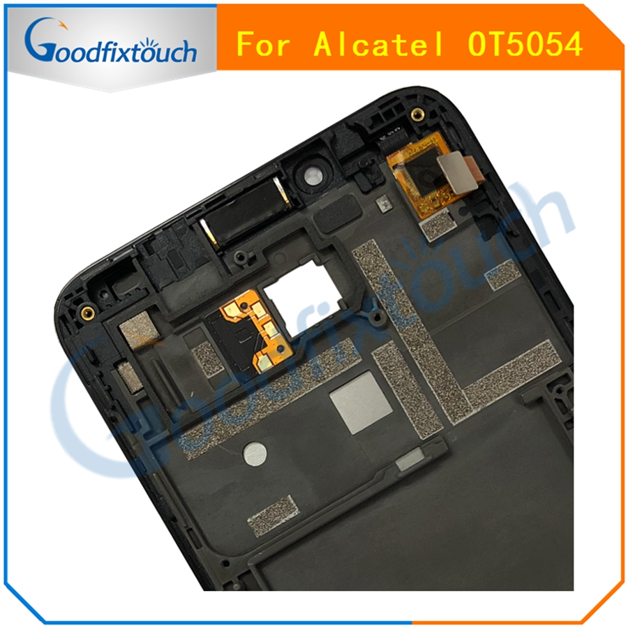 AT0207 For Alcatel One Touch Fierce XL OT5054 5054D 5054 5054N LCD Display Touch Screen Panel Digitizer Assembly With Frame  (3)
