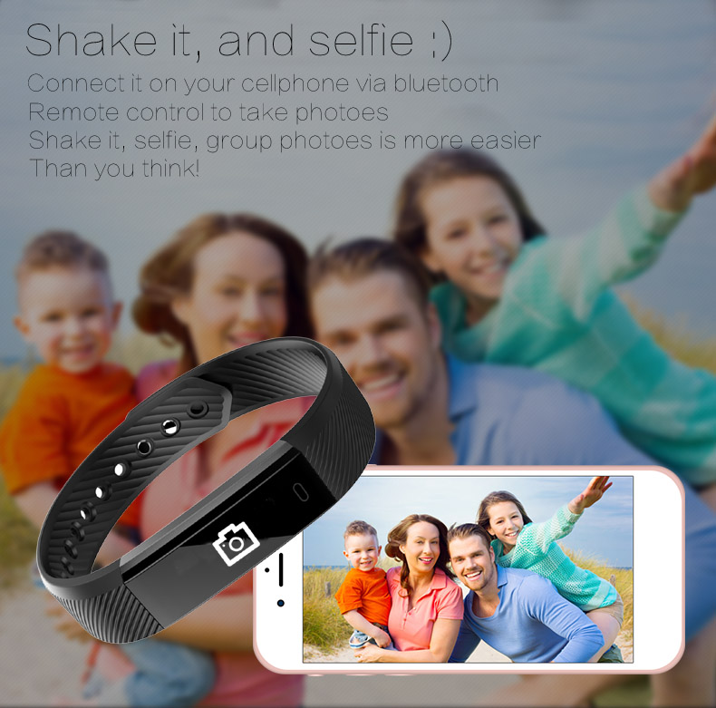 Hold Mi Smart Band ID115 HR Bluetooth Wristband Heart Rate Monitor Fitness Tracker Pedometer Bracelet For Phone 14