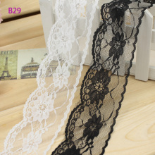 7 cm black 10 yards fine without diy stretch lace cloth garment accessories wholesale Organza RIBBON