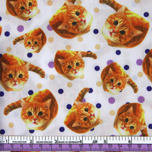 43306 50*147CM patchwork cotton cat fabric for Tissue Kids Bedding textile for Sewing Tilda Doll, DIY handmade materials