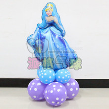 11pcs/lot princess latex balloon cinderella mylar balloons high quality helium foil globos for girls 2.8g latex ballons(China)