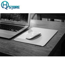Aluminum Gaming Mouse Pad Metal Non-Slip Thin Ergonomic Computer Mouse Pad Comfortable Gaming Mouse Mat For Mackbook PC laptop(China)