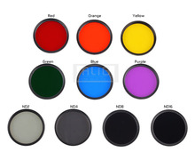 NEW Camera Lens Color Filter 40.5 43 46 49 52 55 58 62 67 72 77 82mm Red Orange Yellow Green Blue Purple ND2 4 8 16
