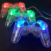 3 Colors Transparent LED Wired USB Gamepad Double Vibration Joystick Game Controller Joypad For PC