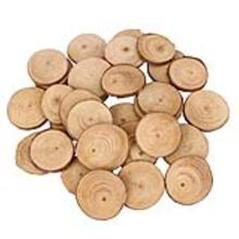30pcs 4-5CM Wood Log Slices Discs for DIY Crafts Wedding Centerpieces  Natural Tree Bark Special Style