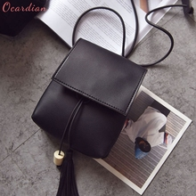 OCARDIAN High quality New Fashion Women Handbag Tassel Wooden Beads Drawstring Shoulder Bag Small Tote Purse Dropship 170721(China)