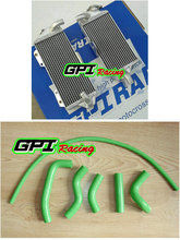 Aluminum radiator+ HOSE FOR KAWASAKI KX500 KX 500 88 89 90 91-04 2003 2002 2004 GREEN HOSE(China)
