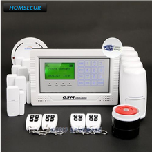 HOMSECUR GSM Wireless LCD Home Security Alarm System 850/900/1800/1900MHz with Touch Keypad(China)