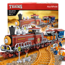 662pcs Creator Classical American Steam locomotive Train 25710 Model Building Blocks Bricks Railway Toys Compatible With lego