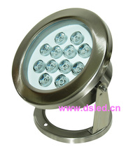 good quality,IP68,high power 12W LED swimming pool light,underwater LED light,12V DC,DS-10-39-12W,stainless steel,(China)
