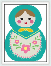 Russian dolls (2) cross stitch kit cartoon 14ct 11ct count print canvas stitching embroidery DIY handmade needlework(China)