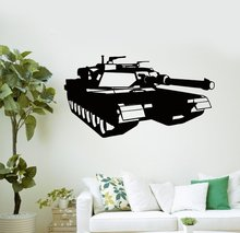 Tank Wall Sticker Military Tank War Gamer Boy Mural Wall Sticker Children Room Bedroom Car Wall Decal Home Decoration