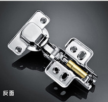 1Pair full overlay satin nickel kitchen cabinet door hinges gate hinge without damper(China)