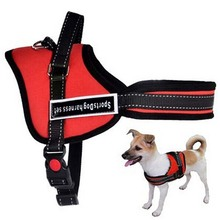 Big Dog Soft Nylon Durable Padded Pet Harness Service Dog Training police k8 Vest Walking Running Medium Large Dog Harness Leash