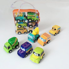 6Pcs Cute Children Kids Mini Car Toys Vehicle Sets Educational Pull Back Toys Model for Baby Funny Christmas Gifts