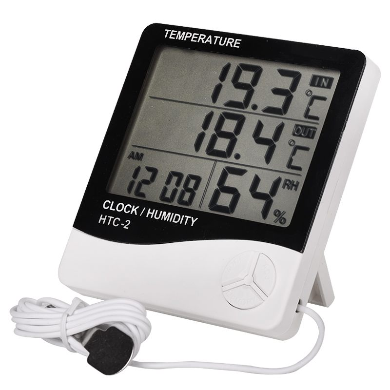 Electronic thermometer with probe
