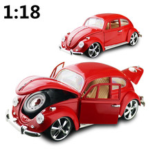High simulation high quality models,1:18 scale alloy Retro Classic Car Beetle,Collection car model,free shipping