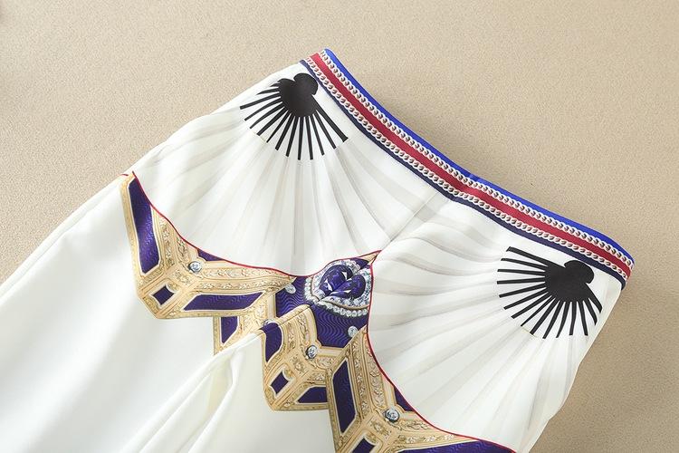 High Quality 17 Designer Runway Suit Set Women's Two Piece Casual Tops + Fashion Print Mid Calf Pants Set suit Free DHL Aramex 17