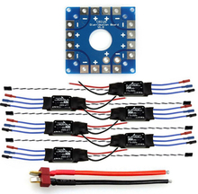 F04997-B JMT Assembled Kit: 30A ESC + KK ESC Connection Board Connectors Dean T Plug Wire for 6-Aix Drone Hexacopter(China)
